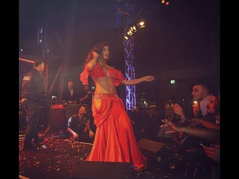 Gina belly dancer performing at Rasta & Sandra Afrika concert in Malmo Sweden
