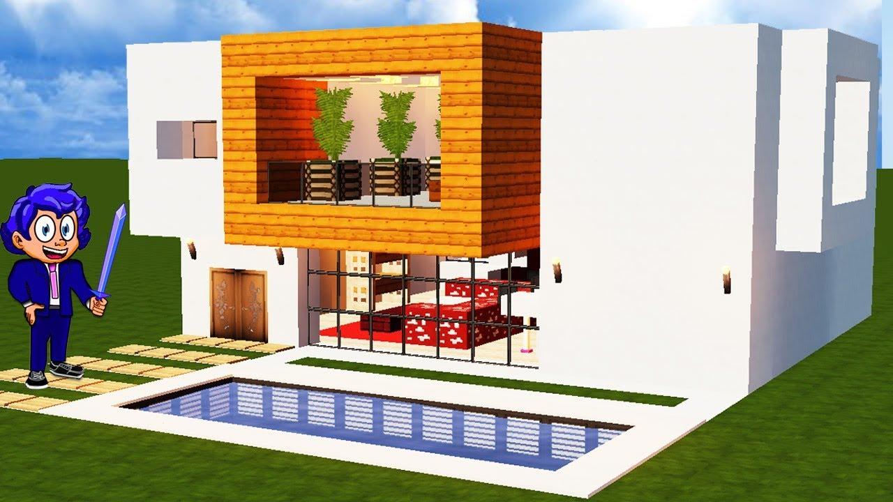 Casa moderna 9 en minecraft c mo hacer y decorar f cil for Casa moderna 9 mirote y blancana
