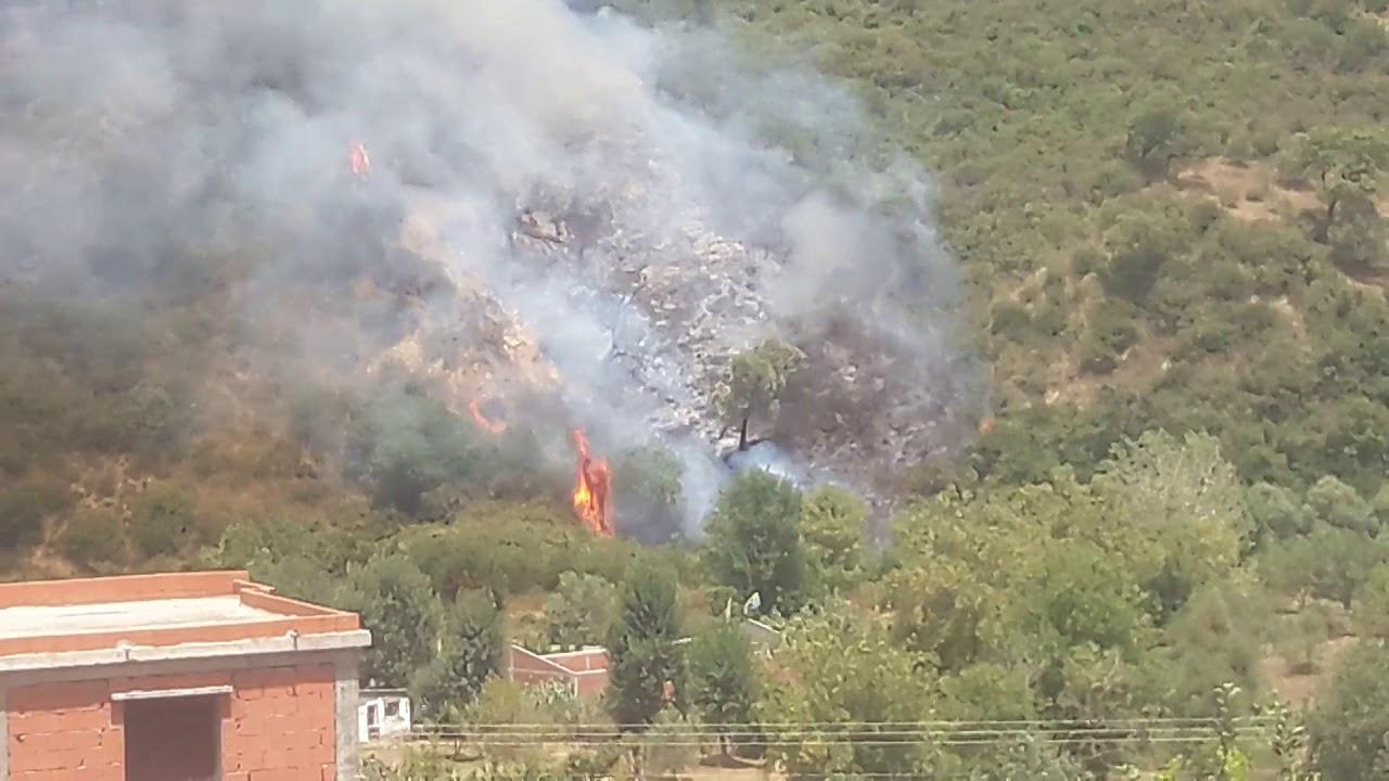اشتعال النار في جبل يارب سلامة