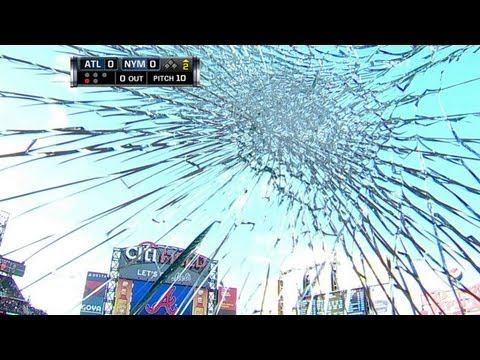 Foul ball shatters camera in second