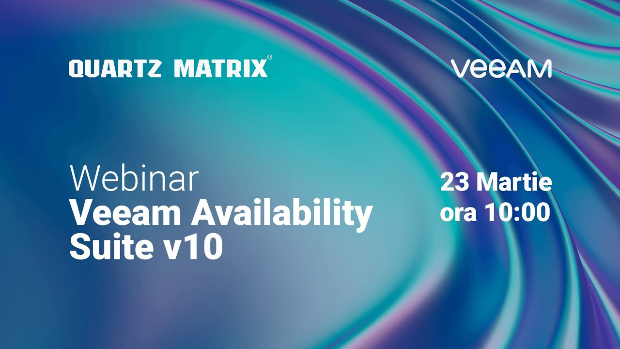 Webinar Veeam Availability Suite v10, speaker Cornel Popescu (23.03.2020)