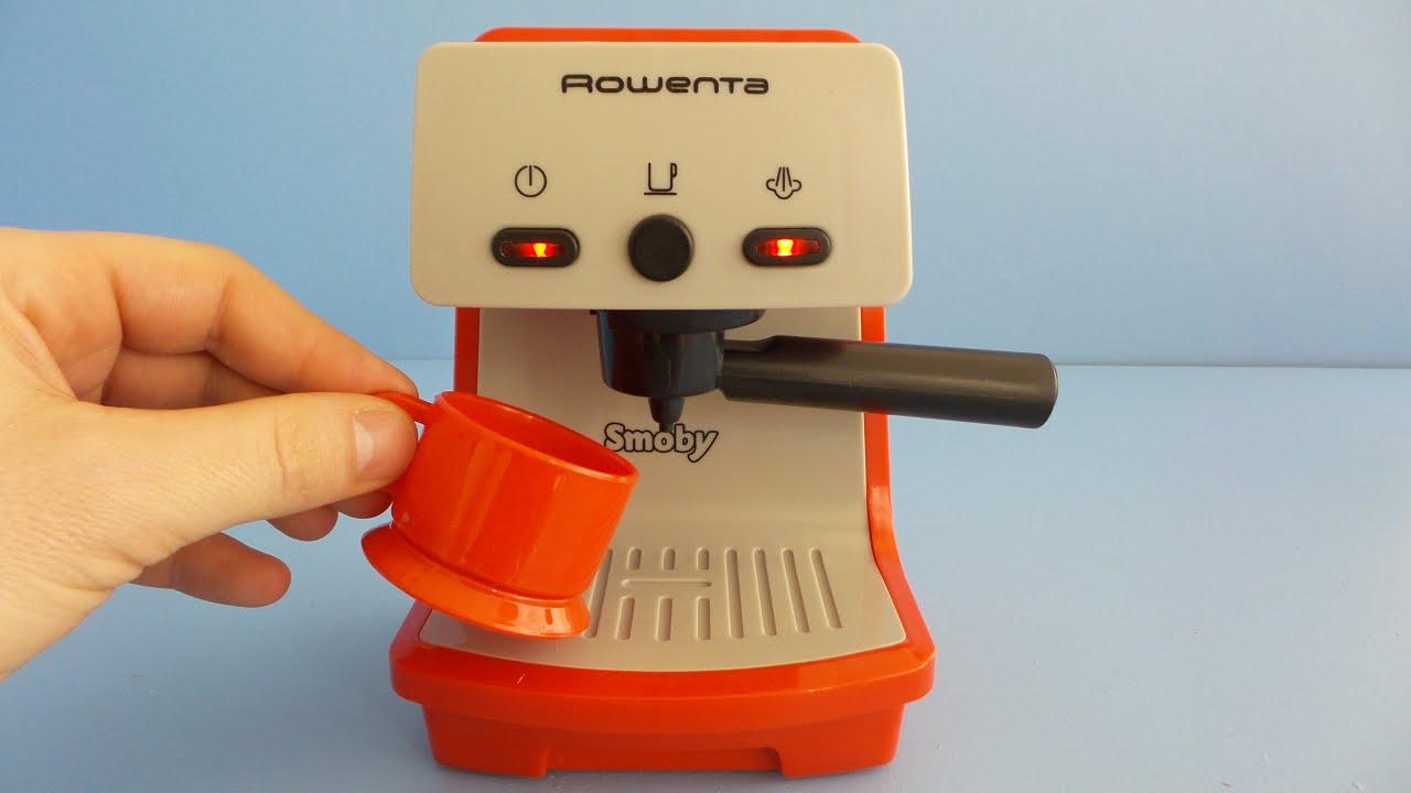 spielzeug kaffeemaschine für spielküche auspacken - youtube