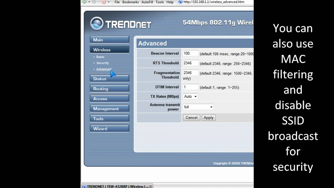 Optimizing wi-fi wireless network adapter and router in Windows 7 for speed
