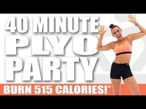 40 Minute PLYO PARTY WORKOUT! ��Burn 515 Calories!* ��Sydney Cummings