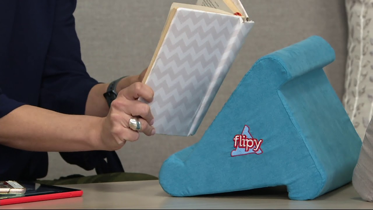 flipy multi angle soft stand for tablets books e readers on qvc