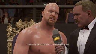 WWE 2K16 PC Gameplay - 2K Showcase Austin 3:16 Part 1 - King of The Ring 1996 [60FPS][FullHD]