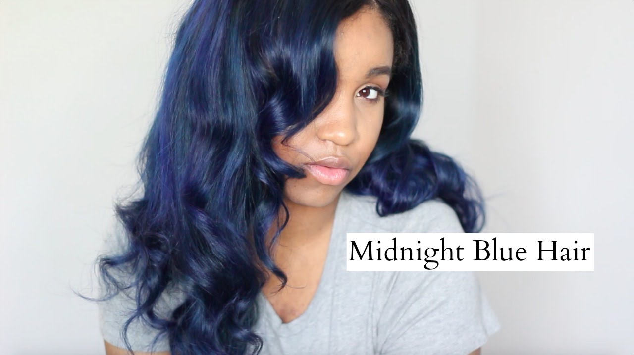 tutorial midnight blue hair youtube