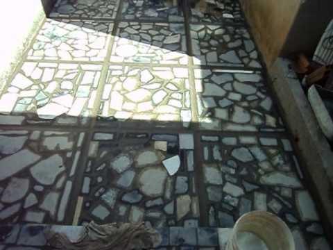 Modelo de mosaico de cacos de granito youtube for Modelos de pisos de granito