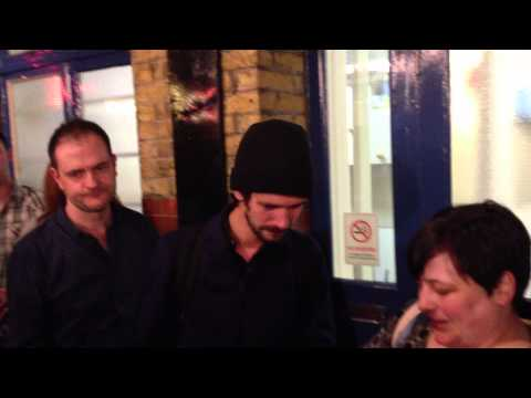 Ben Whishaw signing after Peter and Alice