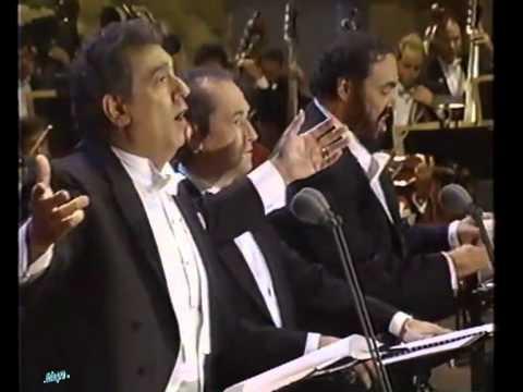 O' Sole Mio - Carreras - Domingo - Pavarotti - Los Angeles 1994... Emozionare Scherzando...