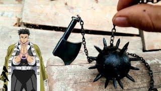 Kimetsu No Yaiba   DIY Forged Gyomei Himejima's Whipping weapon in Mini Size   Blacksmith Arm