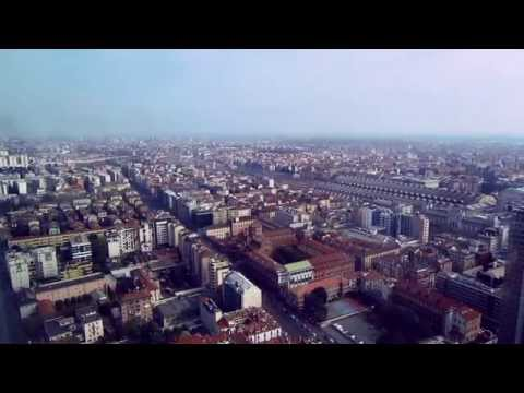 Milan (Milano) panoramic view from Lombardy Building.