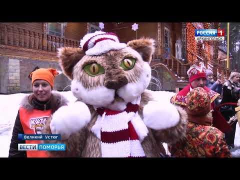 Сказочная делегация Архангельской области поздравила с днём рождения главного Деда Мороза страны