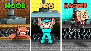 Minecraft - SECRET HIDDEN TRAPS! (NOOB vs PRO vs HACKER)