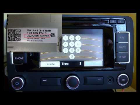 How to decode VW Radio Code RNS 300 310 315 510 RCD 200 Gamma BETA
