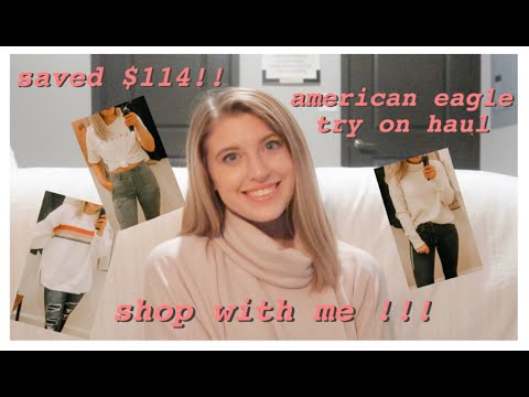 AMERICAN EAGLE HUGE TRY ON HAUL -- Shop With Me!!!!