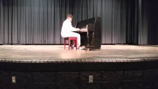 evan mckenzie plays an undertale piano medley ehs talent show 2016