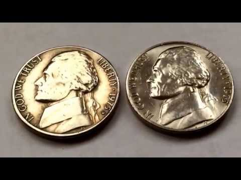 Rare 1975 US Coins Collection Jefferson Nickel Value Varieties Centavo Coins Five Cents Numismatic