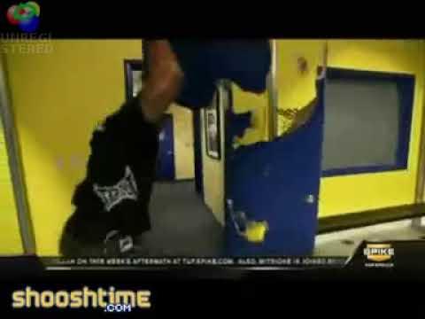 Crazy Man Rampage Jackson Destroys Door Youtube