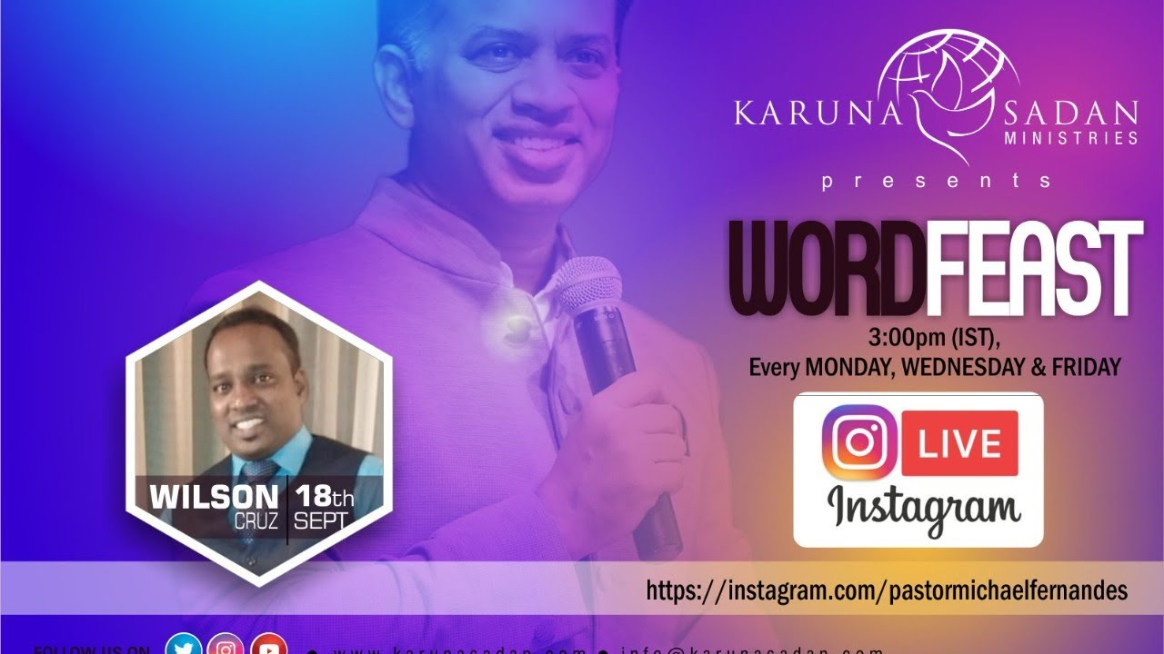 20200918 | Word Feast | Brother Wilson Cruz | @KarunaSadanMinistries