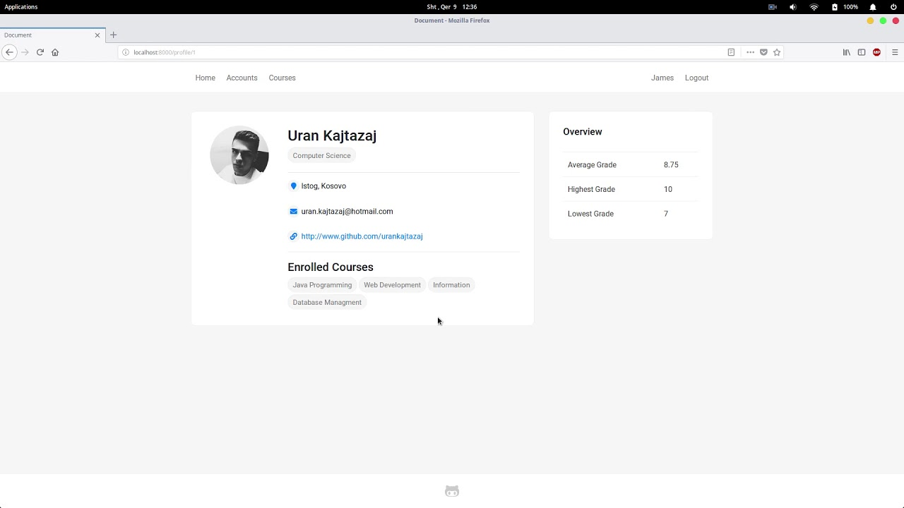 Student Management System made with Django