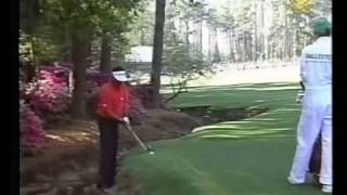 1994 Masters Seve Ballesteros Trouble Shot at the 13th 2nd round