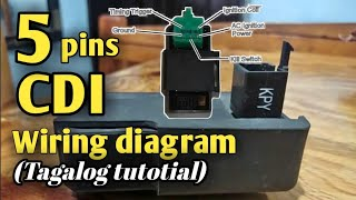 5 pins CDI. Connection and wiring diagram (Tagalog tutorial) Part 2 -  YouTubeYouTube