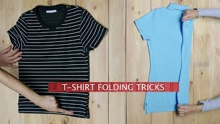 How To Fold A T-Shirt in Under 5 Seconds | 2 Ways
