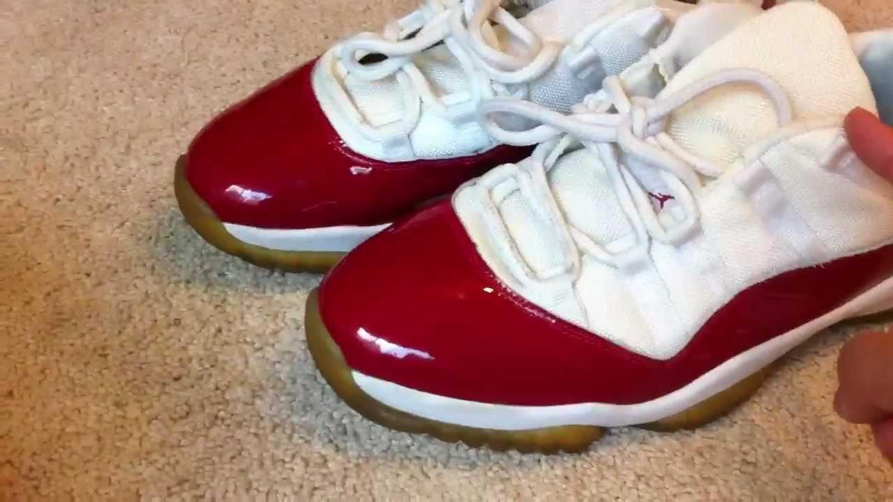 Shoe Pickup Jordan Xi 11 Cherry Lows Youtube