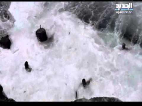 انقاذ شاب من الغرق في عين المريسة