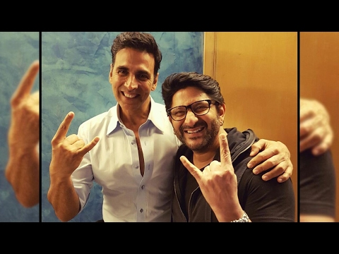Arshad Warsi joins Akshay Kumar at 'Jolly LLB 2' screening