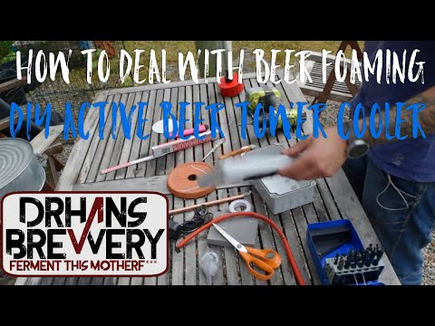 Building an active cooler for the kegerator tower, how to deal with foaming issues!