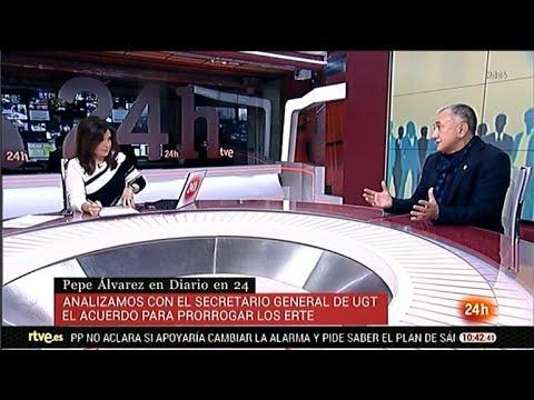 """Entrevista a Pepe Álvarez en el programa """"Diario 24 Horas"""" de TVE"""