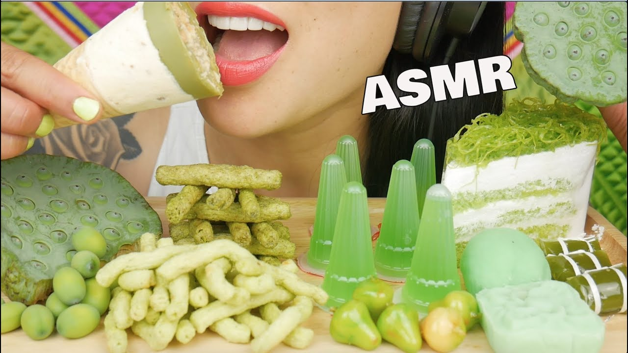Asmr Green Crepe Cake Jello Mochi Chips Lotus Eating Sounds No Talking Sas Asmr Youtube 1 cup of sweet rice flour 1/2 cup sugar (you can put more if you want it sweeter) 1/3 cup of water cornstarch for dusting parchment paper banana nutella direction: asmr green crepe cake jello mochi chips lotus eating sounds no talking sas asmr
