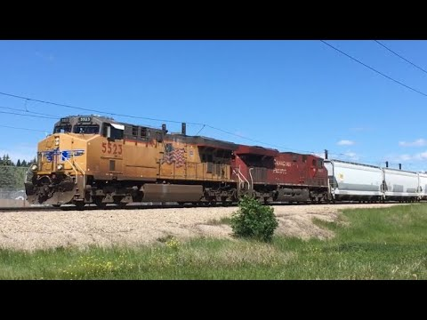 Train After Train on the Aldersyde Subdivision CP 569,469 & 302.. UP Power + Horn Show