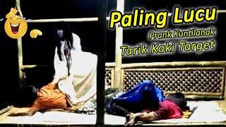 Prank Kuntilanak Paling Lucu Tukang Tarik Kaki Target #Prankkuntilanak  #Prankpocong #Video Lucu
