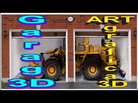 Креативная 3D графика: Гараж Аэрография авто Фотообои СтритАрт ( HD)