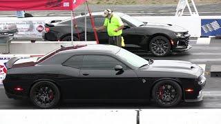 2019 ZL1 vs 2019 Hellcat Challenger - drag race
