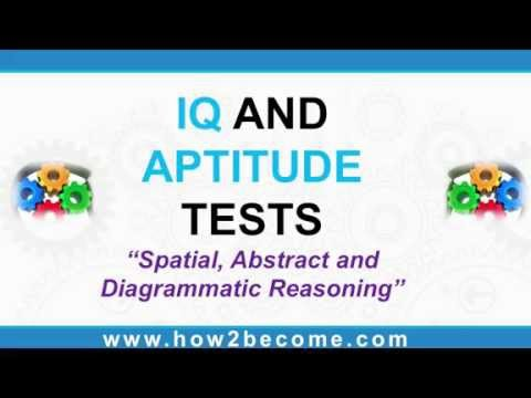 ✔ IQ AND APTITUDE TESTS; Spatial and Abstract Reasoning - How to pass IQ tests