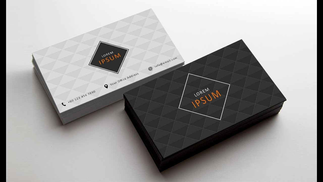Photoshop tutorial business card design 02 youtube reheart Gallery