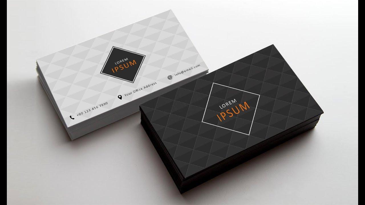 Photoshop tutorial business card design 02 youtube colourmoves