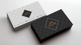 Photoshop Tutorial | Business Card Design 02
