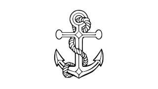 как нарисовать якорь,how to draw an anchor,cómo dibujar un ancla,come disegnare un ancoraggio