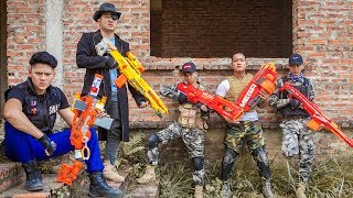 LTT Nerf War : Squad SEAL X Warriors Nerf Guns Fight Crime Group Dr Lee Nerf Gold