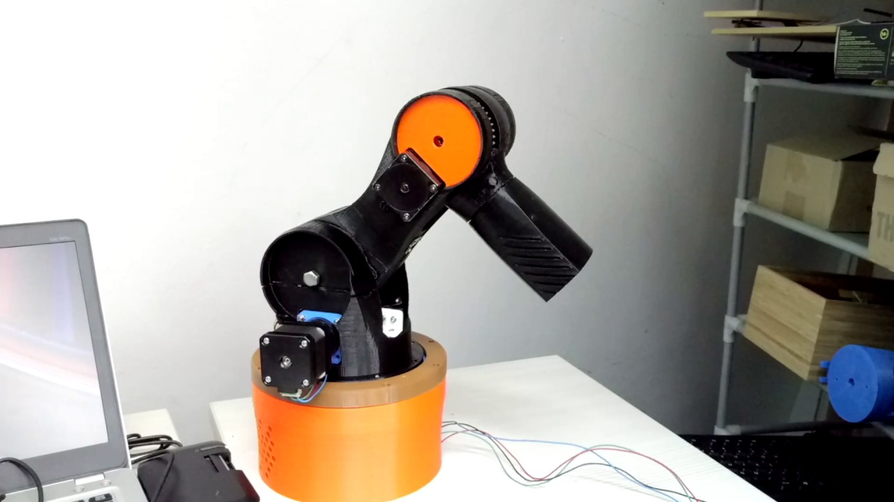 DIY 3D-printer robotic arm