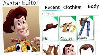 MAKING WOODY A ROBLOX ACCOUNT!!
