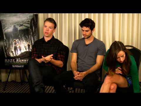 Interview with Will Poulter, Dylan O'Brien and Kaya Scodelario from The Maze Runner