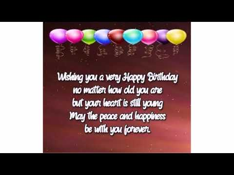 Nice Birthday Wishes For Elderly People