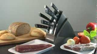 Knife Block Azza, With 6 Knives
