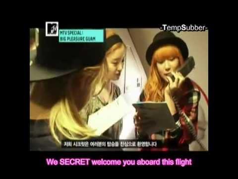 [eng] Secret Hyosung Sunhwa Jieun Zinger - flight announcers (see info)